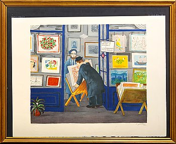 Lennart Jirlow, a signed and numbered colour lithograph.