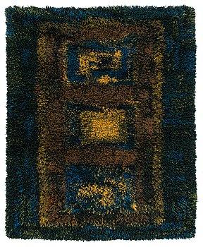 Terttu Tomero, Finnish long pile rug for Neovius. Circa  155x130 cm.