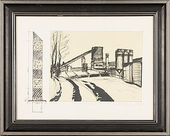 Kuutti Lavonen, lithograph, signed and dated 1989, numbered 315/500.