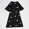 "Marimekko, ""poneva"" wool dress, kerstin enbom, print ""kolibri"" by katsuji wakisaka, 1976."