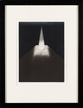 Heikki Arppo, etching and aquatint, signed and dated -85, numbered 49/99 Tpl'a.