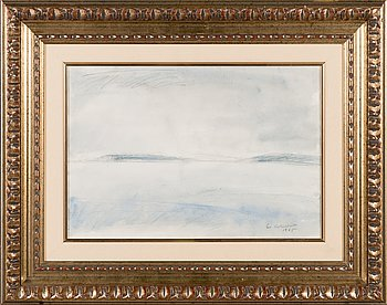 Eva Cederström, watercolour, signed and dated 1965.