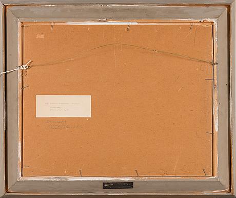 Esa laakso, öljy levylle, signeerattu ja päivätty 1947.