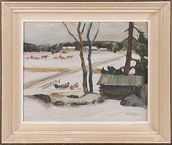 Esa Laakso, oil on board, signed and dated 1947.