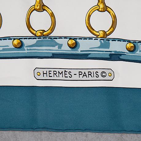 Hermès, an 'aux champs' silk scarf.