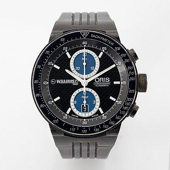 Oris, Williams F1 Team, chronograph, wristwatch, 45 mm.