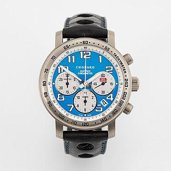 "Chopard, Mille Miglia, ""Vintage Blue"", chronograph, wristwatch, 40 mm."