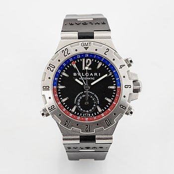 Bulgari, Diagono GMT, wristwatch, 40 mm.