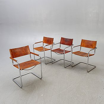 4 late 20th century Italian armchairs.