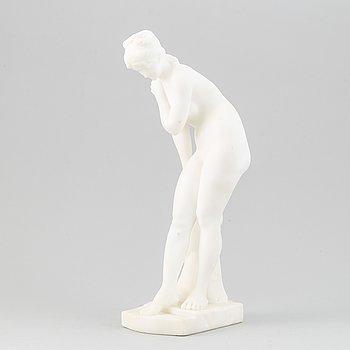 Sculpture, galleria Lapini, Alabaster. Height 36 cm.