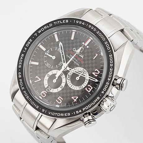 "Omega, speedmaster, legend, ""michael schumacher"", wristwatch, 44,25 mm."