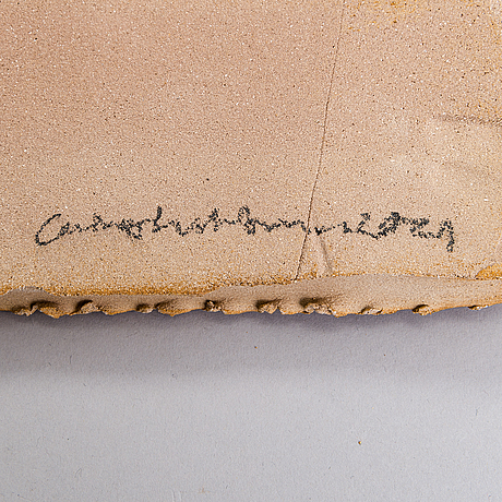 Carina seth andersson, a ceramic plate signed carina seth andersson. 2021.