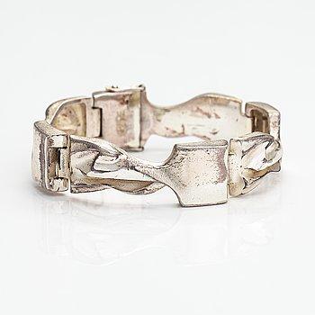 """Björn Weckström, A sterling silver bracelet """"Cassiopeia"""". Lapponia 1974."""