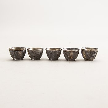 Cup, 5 pcs China, early 20th century.