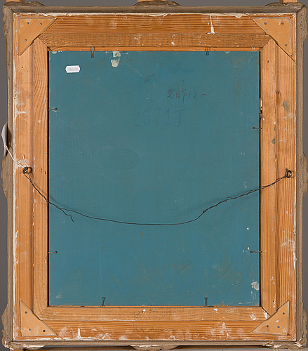 John rafael ekelund, oil on board, signed and dated-42.
