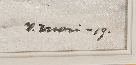 Ilmari vuori, oil on canvas, signed and dated-19.