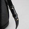 Louis vuitton, a black epi 'cluny' handbag.