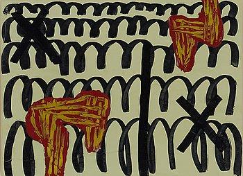 9. Jonathan Lasker, Untitled.