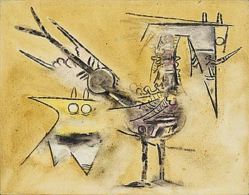 """181. Wifredo Lam, """"Deux Oiseaux""""."""