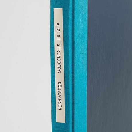 "Typewritten manuscript for the playwright lars norén's interpretation of august strindberg's ""dödsdansen"" , 1993."