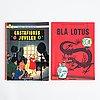 Tintin, comic books, 6 pcs, hergé.