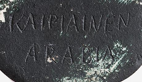 Birger kaipiainen, a stoneware sculpture signed kaipiainen arabia.
