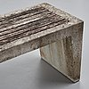 Stina lindholm, a contemporary bench, 'pilgårds', skulpturfabriken.
