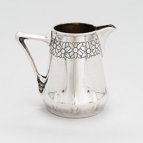 Gräddkanna, silver, jugend, tyskland 1900-talets början.