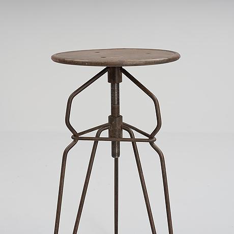 An industrial stool, 20th century.