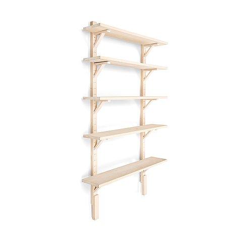 A contemporary wall shelf.