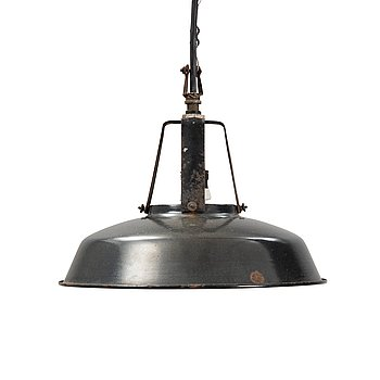A metal ceiling light, 20th century.