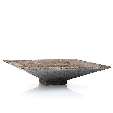 Stina lindholm, a contemporary concrete birdbath, 'terass', skulpturfabriken.