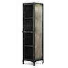 A contemporary patinated metal cabinet.