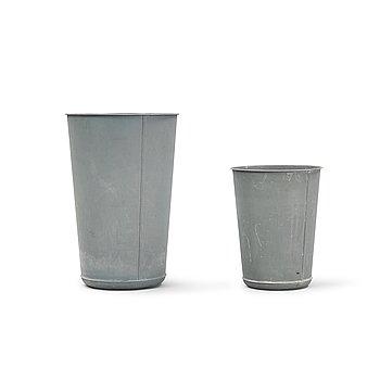 Two metal paper bins from Bloomingville.