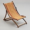 An early 20th century deck chair.