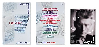 Theater posters, 3 pcs, Lars Norén and others.
