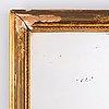 A 20th century bronzed wood mirror, sjögren & ahlberg, stockholm.
