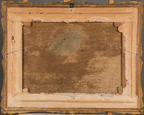 Carl peter hallberg, öljy kankaalle, signeerattu ja päivätty 1852.