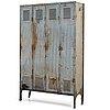 A 20th century patinated metal changing cabinet, rosengrens, gothenburg, sweden.