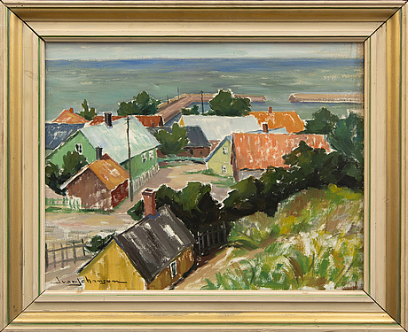 Ivar johanson, oil on canvas, signed.
