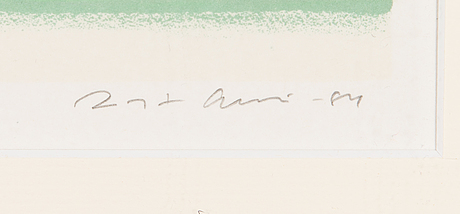 Risto suomi, lithograph, signed and dated -84, numrerad 162/300.