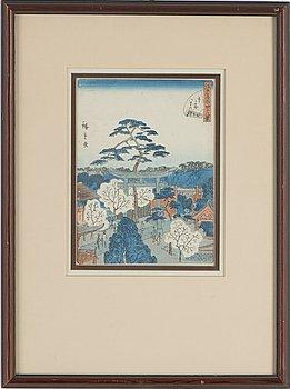 Utagawa Hiroshige II (Shigenobu), a coloured woodblock print, Japan, c. 1860-61.