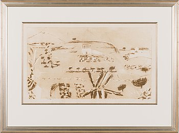 Tuomas von Boehm, lithograph, signed and marked Tpl'a.