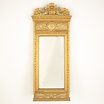 A Gustavian mirror, second half of the 18th Century.