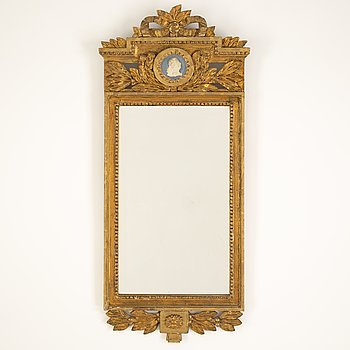 A Gustavian style mirror, early 20th Century.