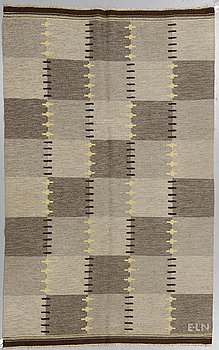 Eva-Lisa Nordin, a carpet, flat weave, ca 227,5 x 139,5-141,5 cm, signed E-L N.