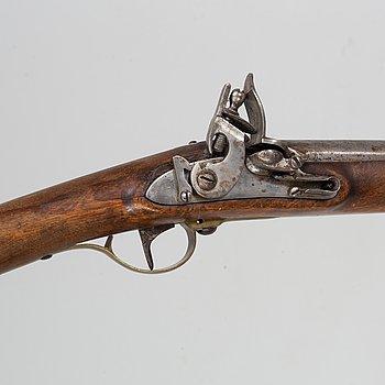A Swedish flintlock gun, 1815 pattern.