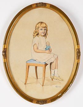 Elsa Beskow, gouache, signed and dated 1923.