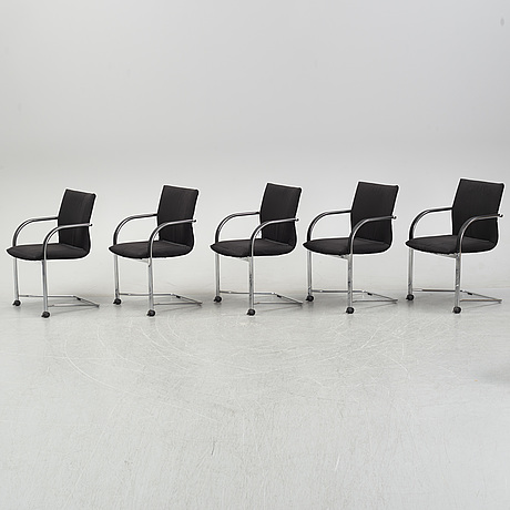 Burkhard vogtherr, a set of five 'independence' chairs for fritz hansen.