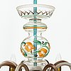Paavo tynell, a 1940s chandelier, for taito and kauklahden lasitehdas, finland.